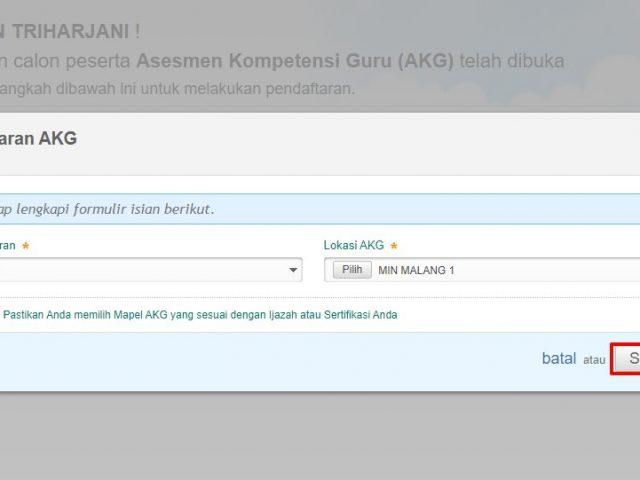 Pendaftaran AKG, AKK, AKP 2020