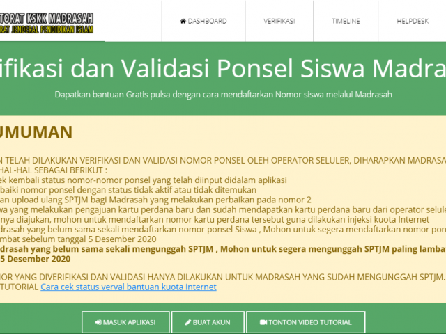 Verifikasi Dan Validasi Nomor Ponsel Oleh Operator Seluler [e-Ponsel]